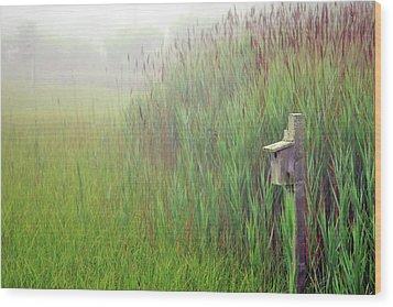 Bird House In Quogue Wildlife Preserve Wood Print by Rick Berk