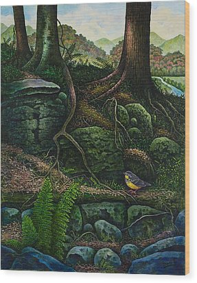 Bird In Paradise Vii Wood Print by Michael Frank