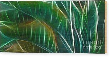Bird Of Paradise Fractal Panel 3 Wood Print by Peter Piatt