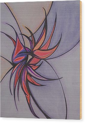 Bird Of Paradise Wood Print by Tara Francoise