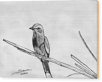 Bird Wood Print by Shashi Kumar
