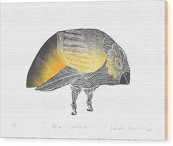 Bird Without A Voice Wood Print by Branko Jovanovic
