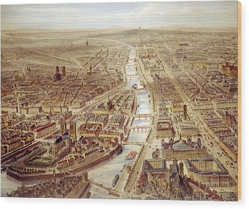Birds-eye View Above The St. Gervais Wood Print by Everett