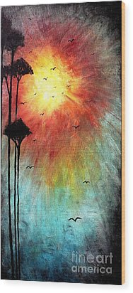 Birds Of The Sun Wood Print by Michael Grubb
