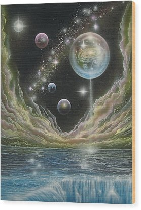 Birth Of A Universe Wood Print by Sam Del Russi