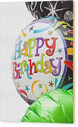 Birthday Balloons Wood Print by Tom Gowanlock