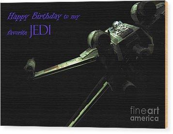 Birthday Card Wood Print by Micah May