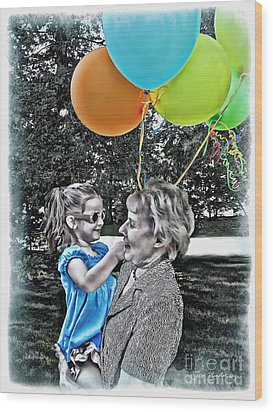 Birthdays Wood Print by Joan  Minchak
