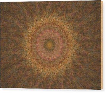 Birthing Mandala 18 Wood Print by Rhonda Barrett