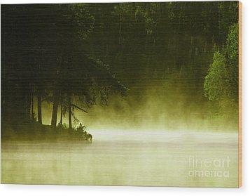 Biscotasing Wood Print by Marjorie Imbeau