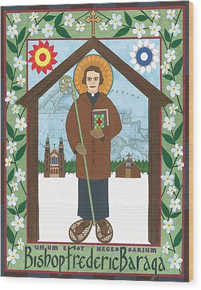 Bishop Frederic Baraga Icon Wood Print by David Raber