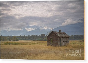 Bitterroot Homestead Wood Print by Idaho Scenic Images Linda Lantzy