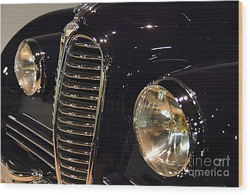 Black 1948 Delahaye . Grille View Wood Print by Wingsdomain Art and Photography