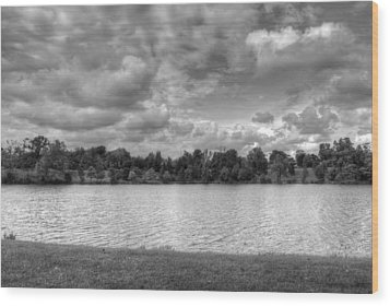 Wood Print featuring the photograph Black And White Autumn Day by Michael Frank Jr