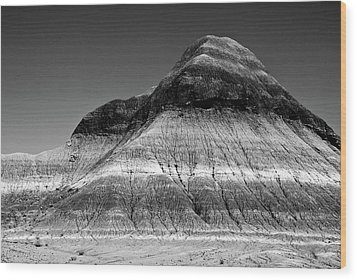 Black And White Painted Desert Wood Print by Bob and Nadine Johnston