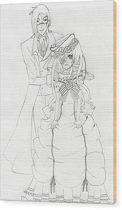 Black Butler Fan Art Wood Print by Ashley Rommel
