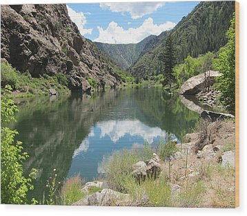 Black Canyon River Wood Print by Kathryn Barry