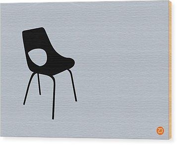Black Chair Wood Print by Naxart Studio