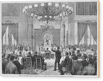 Black Convention, 1876 Wood Print by Granger