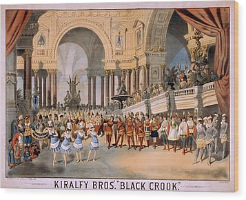 Black Crooks Was First Produced In New Wood Print by Everett