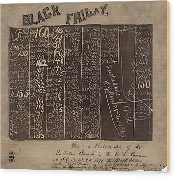 Black Friday Gold Prices, 1869 Wood Print by Library Of Congress
