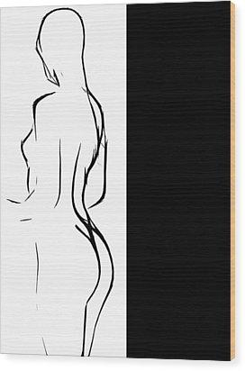 Black Girl White World Wood Print by Steve K
