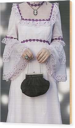 Black Handbag Wood Print by Joana Kruse