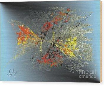 Wood Print featuring the digital art Black Hole IIi by Leo Symon