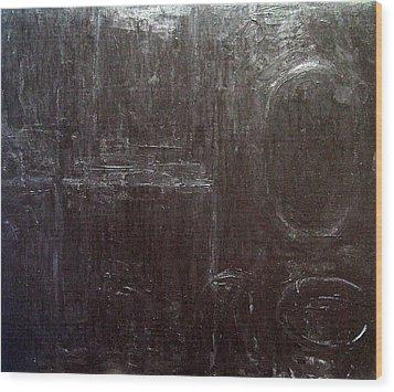 Black Interior  Wood Print by Kazuya Akimoto