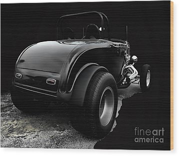 Black Jalopy Wood Print by Jerry L Barrett