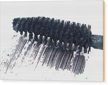 Black Mascara Wood Print by Blink Images