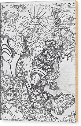 Black N White Wood Print by Justin Chase