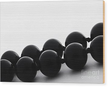 Black Pearls Wood Print by Blink Images
