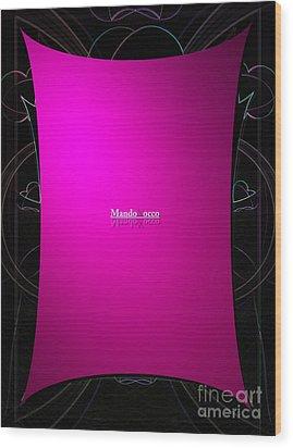 Black Pink Wood Print