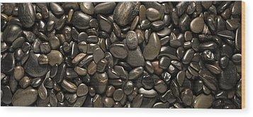 Black River Stones Landscape Wood Print by Steve Gadomski