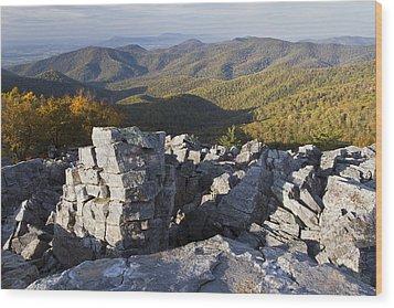 Black Rock Mountain Shenandoah National Park Wood Print by Pierre Leclerc Photography