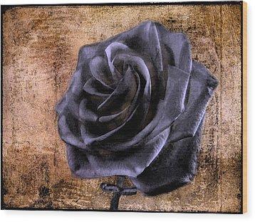 Black Rose Eternal   Wood Print