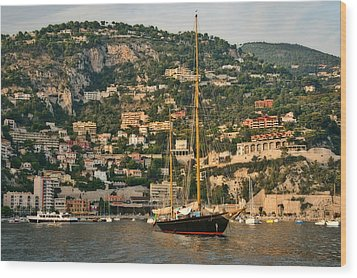 Wood Print featuring the photograph Black Sailboat by Steven Sparks