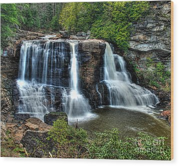Wood Print featuring the photograph Black Water Falls by Mark Dodd