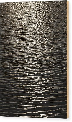 Black Water Wood Print by Miguel Capelo