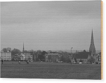 Wood Print featuring the photograph Blackheath Village by Maj Seda