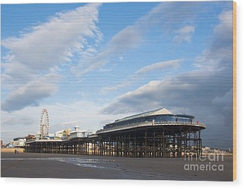 Blackpool Pier Wood Print by Andrew  Michael