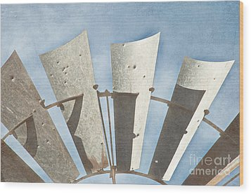 Blades - Texture Wood Print by Bob and Nancy Kendrick