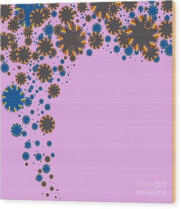 Blades On Purple Wood Print by Atiketta Sangasaeng