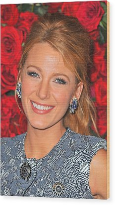 Blake Lively At Arrivals For Momas 4th Wood Print by Everett