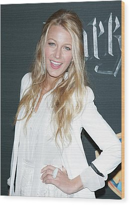 Blake Lively Wearing A Dolce & Gabbana Wood Print by Everett