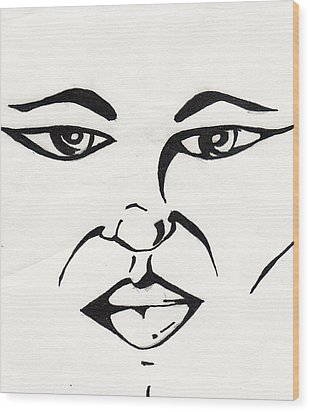 Blank Look Wood Print by Marc Chambers