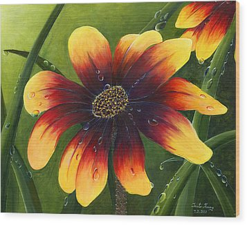 Blanket Flower Wood Print by Trister Hosang