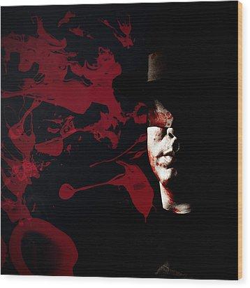 Bleeding Self Wood Print by Monte Arnold
