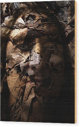 Blending In Wood Print by Christopher Gaston